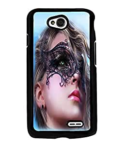 Fuson Pattern Girl Back Case Cover for LG L70 - D3665