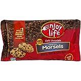 Enjoy Life, Gluten Free, Chocolate Baking Chips (Pack of 4) (Dark Chocolate Chips, 9oz Bag)