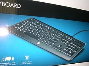 Hp Multimedia USB Keyboard with Volume Control Black Pn:505060-371 #Ku-0841