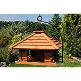 XXL Vogelhaus Nr20 Dach mit Holzlamellen und Bügel zum aufhängen von Vogelhaus, Nistkasten, Vogelhäuschen, Futterhaus...