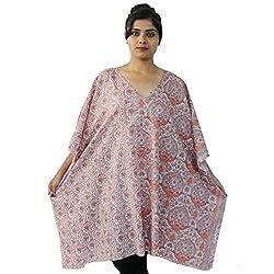 Etti Be Trendy Women's Kaftan (ES303_Pink_Free Size)