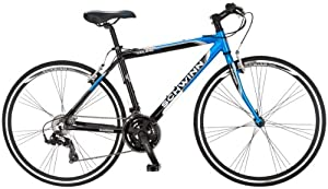 Schwinn Men's Volare 1200 700C Flat Bar Road Bicycle, Blue/Black