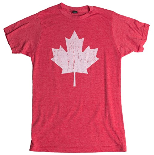 Canada Pride | Vintage Style, Retro-Feel Canadian Maple Leaf Unisex T-shirt-Adult,L