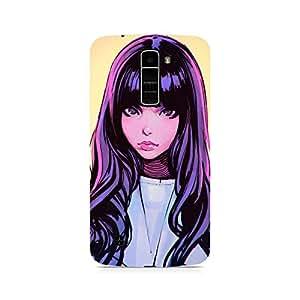 Mobicture Girl Abstract Premium Designer Mobile Back Case Cover For LG K7