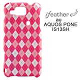 iFeather Fashion au Sharp AQUOS Phone(IS13SH)専用 ケース/カバー Argyle-Pink IFIS13ARG-PK