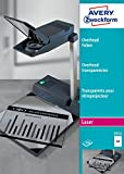 Avery Zweckform 3552 Overhead-Folien, DIN A4, spezialbeschichtet, stapelverarbeitbar, Stärke: 0,10 mm, 100 Blatt