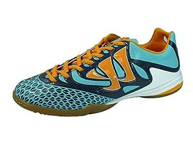 Skreamer S Combat Indoor Football Trainers Blue Radiance/Orange - size 9.5