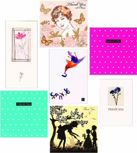 14 Mixed Luxury Thank You Greeting Cards