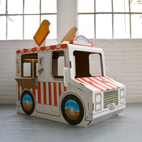 Imagine Wagon Ice Cream Truck Cardboard Playhouse