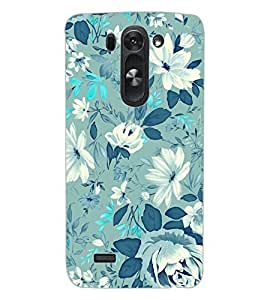 ColourCraft Lovely Flower Pattern Design Back Case Cover for LG D722 K