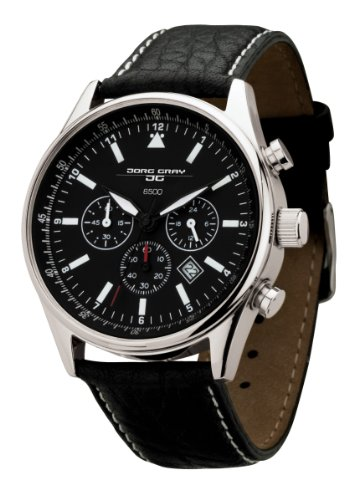 Jorg Gray Men's Quartz Watch JG6500 Non Commemorative Edition with Italian Buffalo Grain Leather Strap