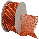 Morex Ribbon Swirl Wired Sheer Glitter Ribbon 2-1//2-Inch by 50-Yard Spool Spring Moss//Gold