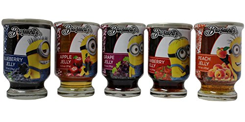 Braswell's Minions Fruit Jelly in Reusable Container | Made from Pure All Natural Ingredients and Hand Stirred in Small Batches (Assorted, 5 - Pack) (Minions Fruit compare prices)