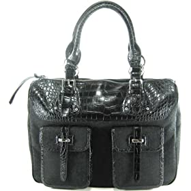 DKNY (Donna Karan New York) Logo Business Tote in Black / Black