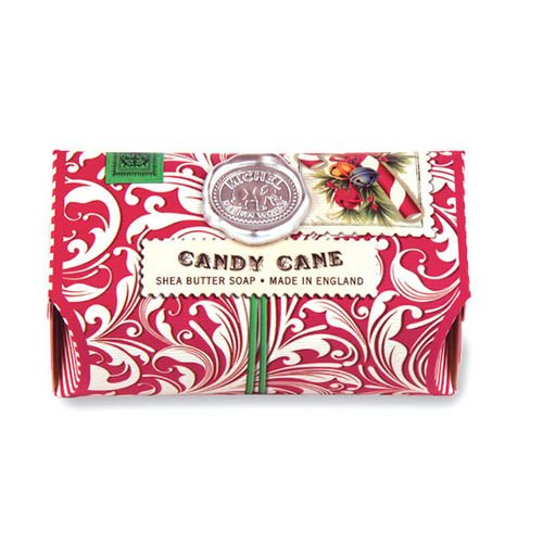 Michel Design Works Triple Milled Bath Soap Bar, Candy Cane, 9 Ounce