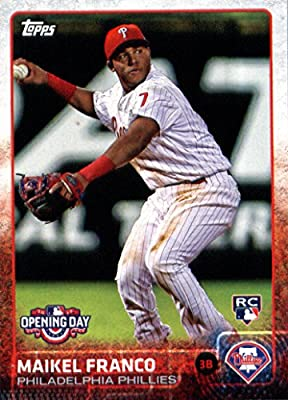 2015 Topps Opening Day Baseball Card #185 Maikel Franco RC - Rookie Card NM-MT