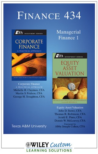 Finance 434, Managerial Finance I, Texas A&M University