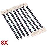 CARCHET® 8 X Câble 4 Pin Connecteur Adaptateur Pour Bande RGB LED/SMD