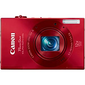 Canon PowerShot ELPH 520 HS 10.1 MP CMOS Digital Camera with 12x Optical Image Stabilized Zoom 28mm Wide-Angle Lens and 1080p Full HD Video Recording (Red)