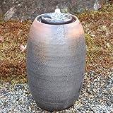 水琴窟(すいきんくつ)信楽焼(重蔵釜 Sタイプ)02 S?5(窯自然釉/かましぜんゆ)