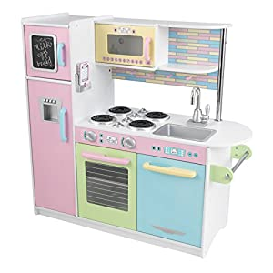 Amazon Com Kidkraft Uptown Pastel Kitchen Playset Toys
