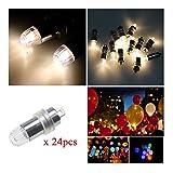 Amazon.co.jp[24個] LED風船 ライト LEDライト 用 ランプ に取り付け可能 / 光るバルーン / ミニライト / 光る気球 /ランプ / パーツ/ クリスマス パーティー [ウォームホワイト]