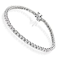Luxurman Round Diamond Tennis Bracele…