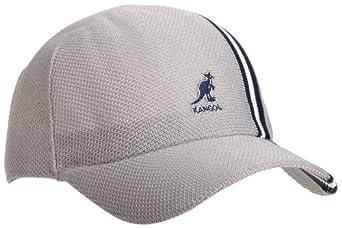 Kangol Polo Stripe Spacecap Hat,Grey,XL US