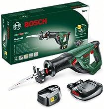 """Bosch Home & Garden PSA 18 LI Akku-Säbelsäge """"Universal"""", Ladegerät, Akku, Sägeblatt, Karton (18 V, 2,0 Ah, 100 mm Schnitttiefe in Holz)"""