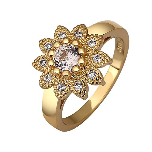 18K Gold Plated Fashion Engagement Ring For Women Wedding