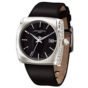 Jorg Gray JG2300-11 Round Watch with Black Leather Strap with Steel Buckle (White & Red Available)