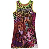 Monster High Big Girl Sleeveless Nightgown Pajama