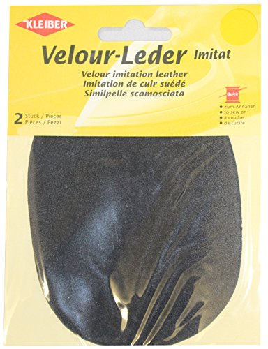 kleiber-125-x-10-cm-imitation-suede-leather-sew-on-knee-elbow-patches-oval-dark-grey