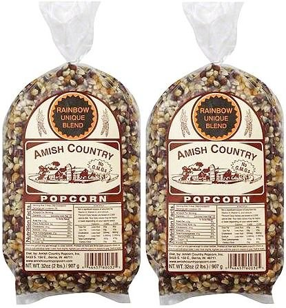 Amish Country Popcorn Rainbow Gourmet Unique Blend (4 Pounds) (Popcorn Blend compare prices)