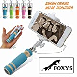 #5: FOXYS Next Gen Compact Selfie Stick Wired for iPhone and Android