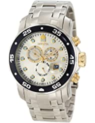 Invicta Men's 10373 Pro Diver Chronograph Silver Dial Watch