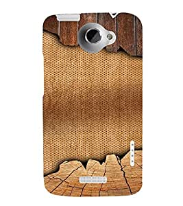 PrintVisa 3D Jute & Wood Pattern 3D Hard Polycarbonate Designer Back Case Cover for HTC One X