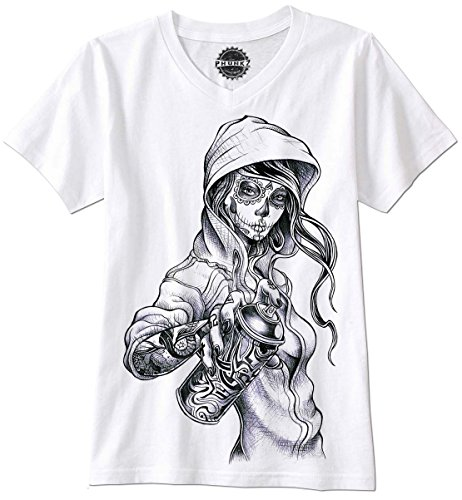PHUNKZ T-Shirt SEXY GIRL CHOLA GANGSTER GANGSTA MEXICO MEXICAN LATINA