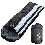 【SOUTH WIND】丸洗いのできる 寝袋 シュラフ 封筒型 耐寒温度 -15℃ コンパクト収納 オールシーズン (ブラック)