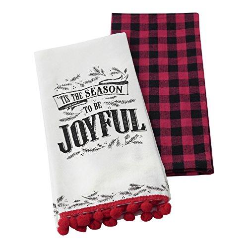 Hallmark Home Decorative Cotton Kitchen Tea Towels (Set of 2)