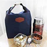 Amjimshop Vovotrade(TM) Tote Portable Insulated Pouch Cooler Waterproof Food Storage Bag (Navy)