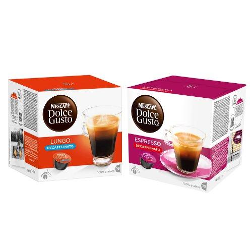 Get Nescafé Dolce Gusto Capsules Decaffeinato-Set, Caffé Lungo and Espresso Decaffeinato by Nestlé