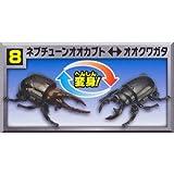 変身昆虫カブトクワガタ第3弾 新種捕獲! [8.ネプチューンオオカブト⇔オオクワガタ](単品)