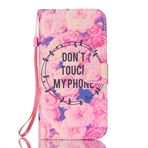 Galaxy S7 Edge Case, Jenny Shop Stylish Flip Folio PU Leather Wallet Case Wrist Strap Foldable Stand Built-in Cards Cash Holder Magnetic Closure for Samsung Galaxy S7 Edge SM-G935 2016 (Garland Touch)