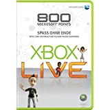 "Xbox 360 - Live Points Card 800von ""Microsoft"""