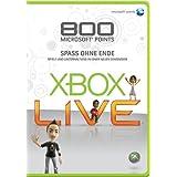 Microsoft XBOX 360 LIVE 800 Microsoft Points Card