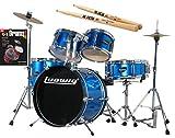 Ludwig Junior Blue Drum Set Bundle with Vic Firth American