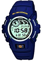 Casio - G-2900F-2VER - Montre G-Shock - Résine - Quartz Digitale - Sport - Multifonctions - Chronographe - Alarme - Dateur - Etanche 20 ATM - Bracelet Caoutchouc Bleu