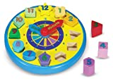 Melissa & Doug Wooden Shape Sorting Clock