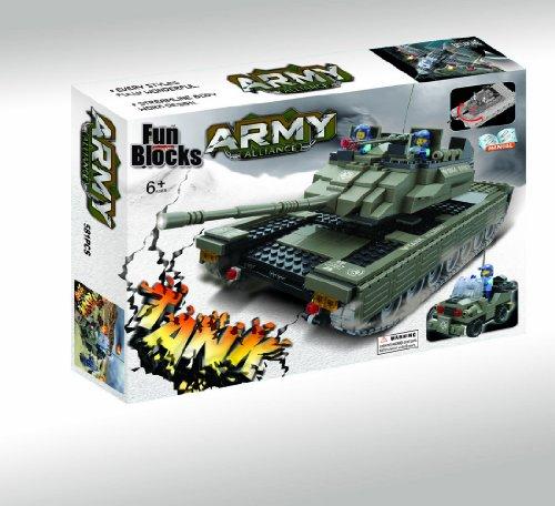 Fun Blocks (Compatible With Lego) Military Tank Brick Set (581 Pieces)